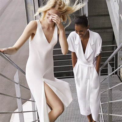 Zara primavera verão 2014 Lookbook vestidos longuetes branco