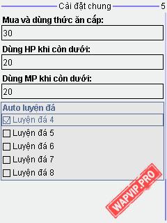 wapvip-Ninja 1.1.9 ChipV1.7.6 - Auto Luyện Đá, Cải Tiến Tàn Sát, NVHN, Tự Chọn Cấu Hình