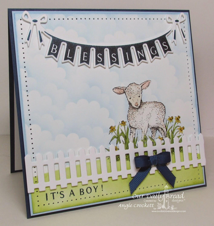 ODBD The Shepherd, Pennant Swag 1, Pennat Swag Alphabet, Pennant Swag Die, ODBD Fence Die, Card Designer Angie Crockett