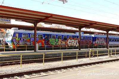 Glavni kolodvor - graffiti na vlaku