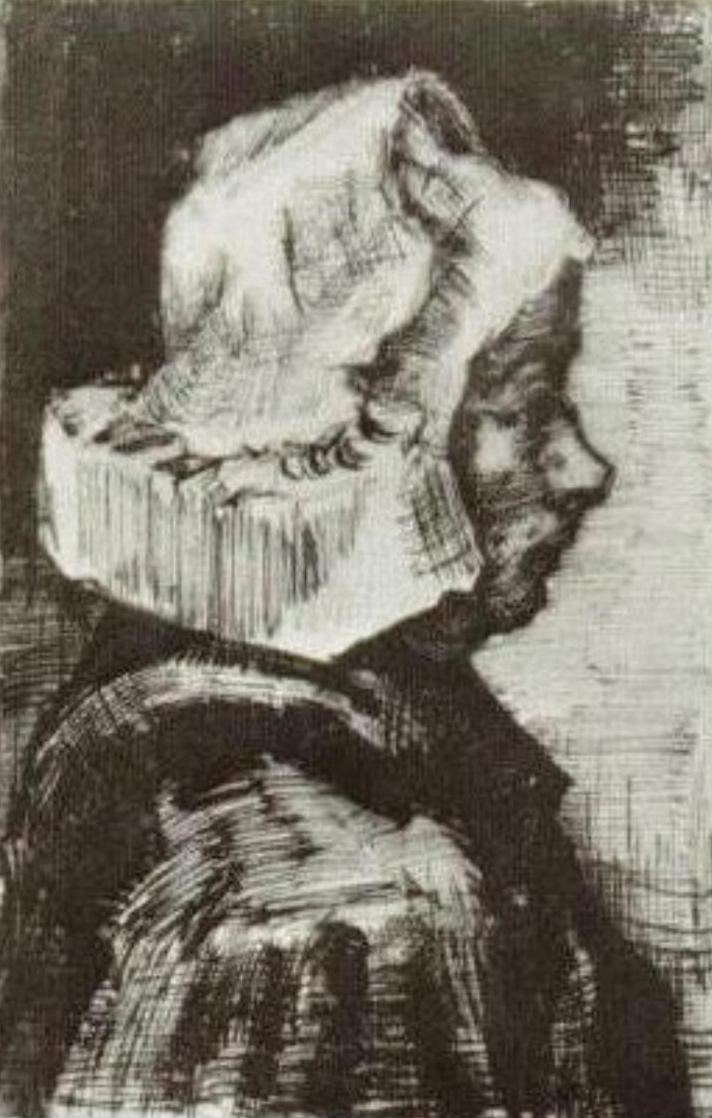 Head of Peasant Woman drawing (F 1174, JH 562)
