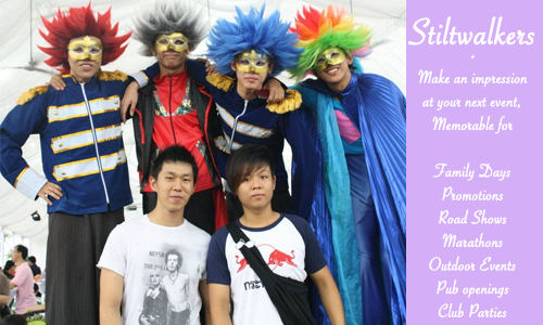 stiltwalkers in singapore