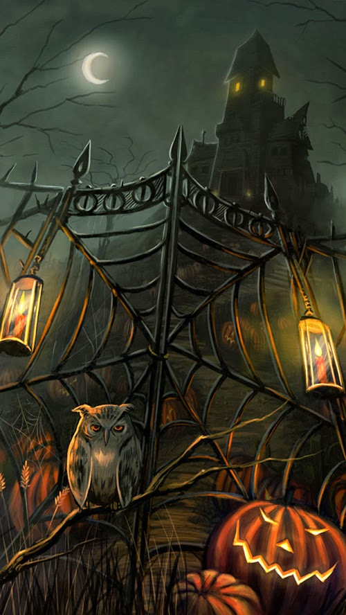 My Owl Barn: Halloween Desktop and iPhone Wallpaper