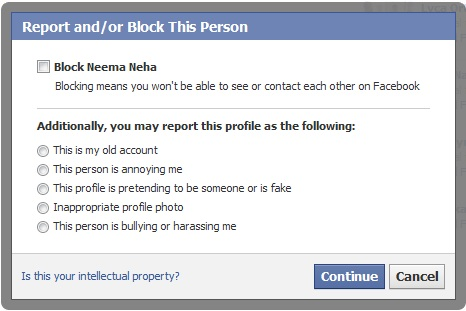 How to block/Report A user on Facebook
