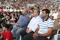 Vice-prefeito Márcio Catão e os vereadores Maurício Lopes e Fábio Filé acompanham celebração no Ginásio Pedrão