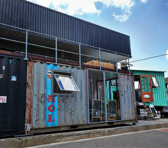 Safari Fusion blog | Ship it [part 2] | Serving up souvlaki in an old MOL shipping container | Soul Souvlaki Maverick Corner, Maboneng precinct, Johannesburg