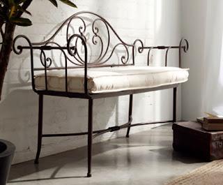 banco forja, taburete forja, muebles de forja