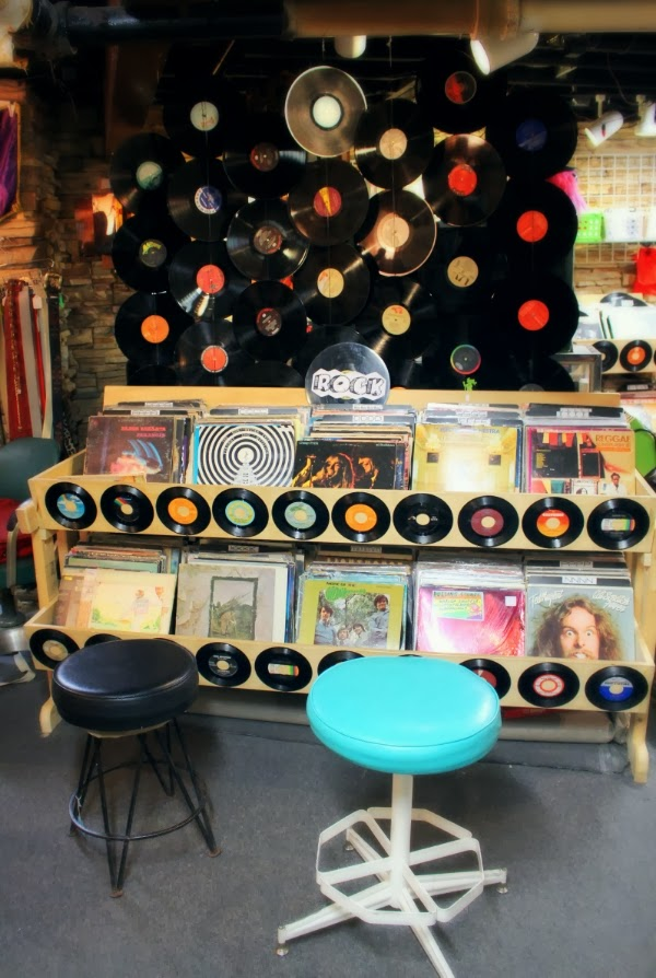 Vintage Record Display #vintage #music #records