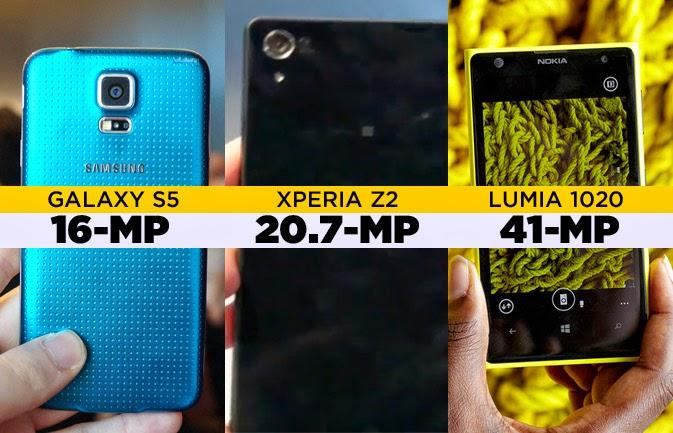 galaxy s5 vs Xperia z2 vs lumia 1020 camera comparison