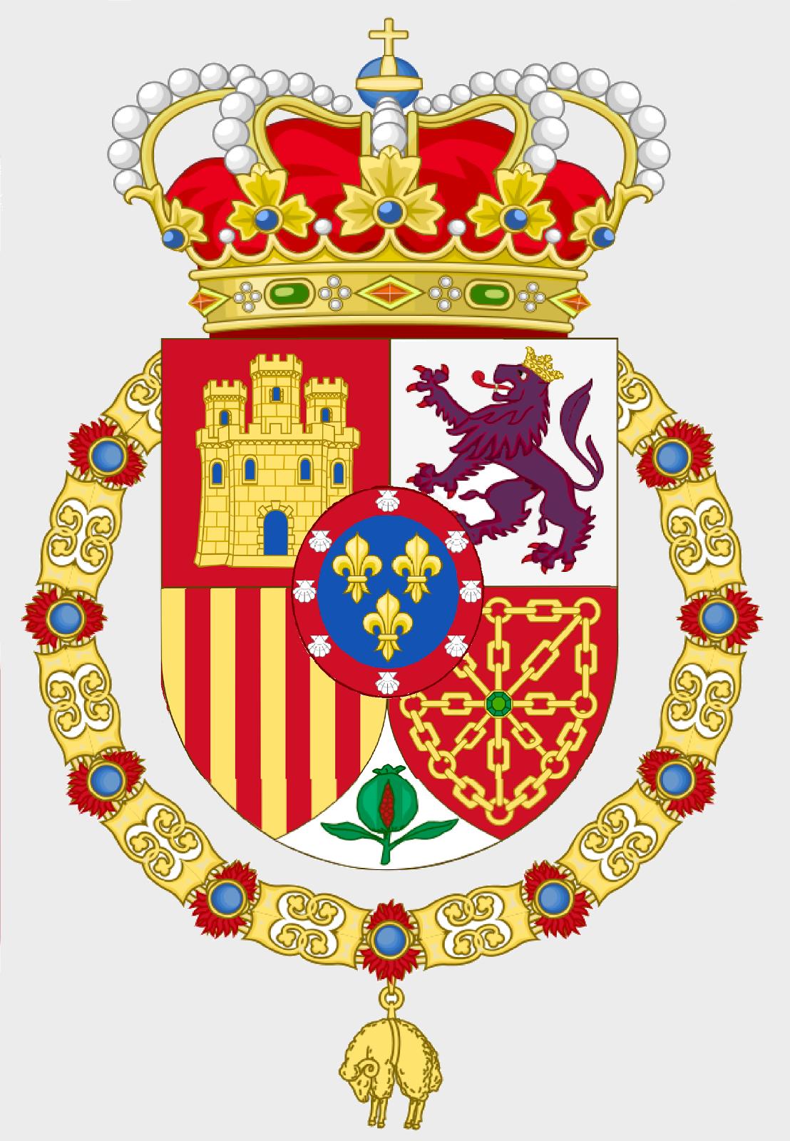 Escudo de S.M.C. don Carlos Javier I de Borbón Parma