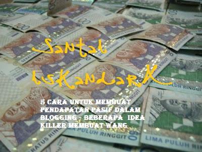 pendapatan pasif, membuat wang, membuat pendapatan pasif, membuat pasif, idea-idea membuat wang, duit dari blogging