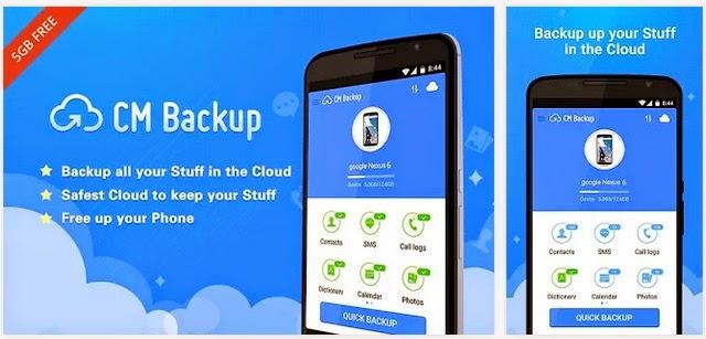 تطبيق مجاني للأندرويد لعمل نسخ إحتياطي للبيانات والصور وإستعادتها في أي وقت CM Backup -Restore,Cloud,Photo