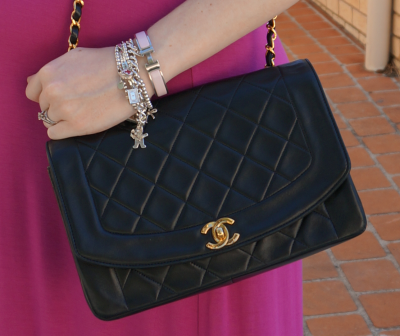 vintage chanel flap bag away from blue blogger