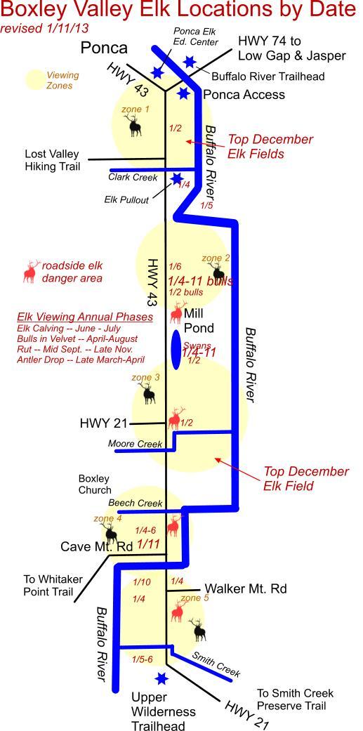 January 11 Elk Herd Location Map
