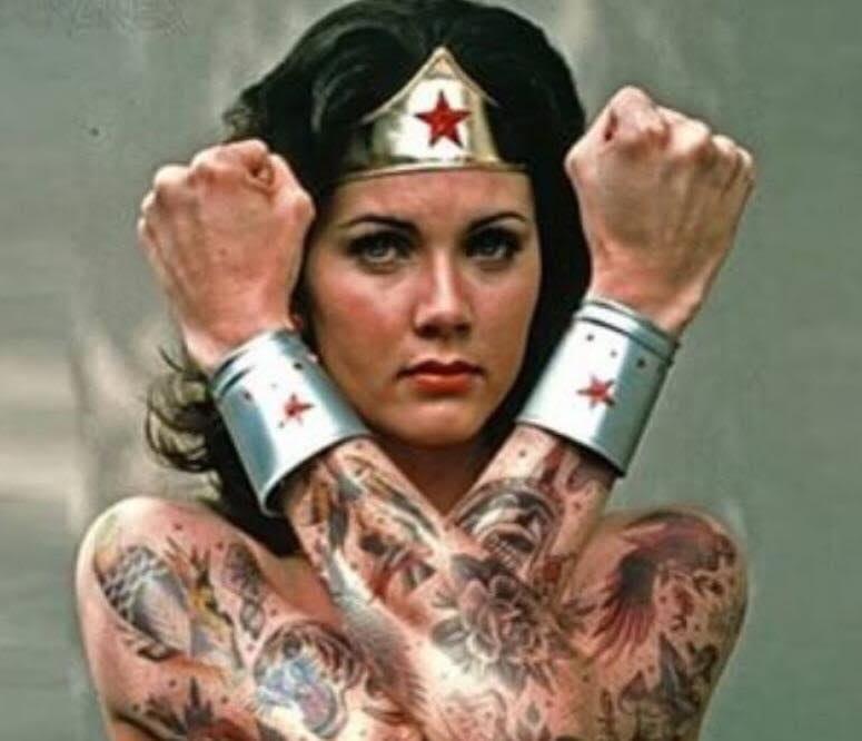 Jimsmash tattooed lynda carter tattooed lynda carter hot thecheapjerseys Choice Image