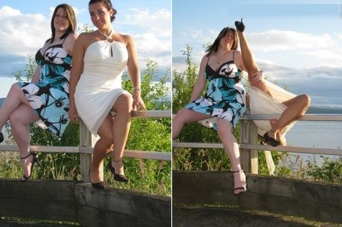 Wedding photo fail woman