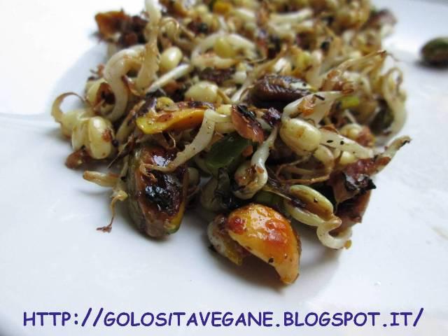 burro di arachidi, Contorni, germogli soia, mozzarella vegan, pistacchi, ricette vegan, soia,