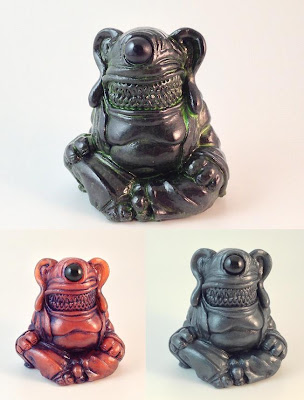 Meat Buddha Resin Figures Wave 2 by Motorbot - Black, Copper & Pewter