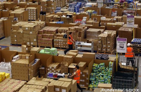 inside amazon com warehouse pictures funny pics box