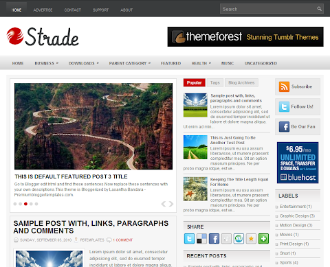 Strade Blogger Theme