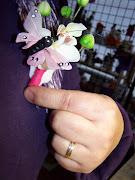 Ramo Novia realizado con Mariposas Rosa Chicle y Fuxia con Orquideas Blancas