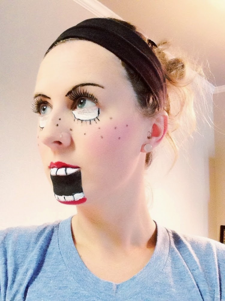 She's no dummy... This makeup rules.