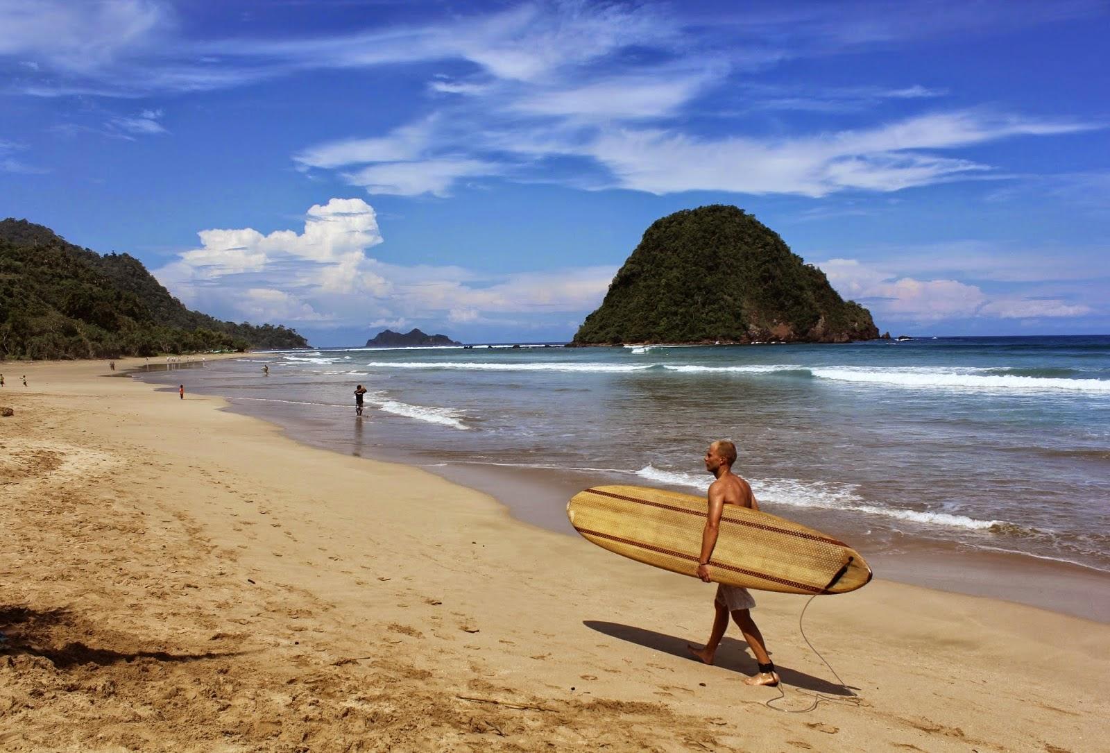 Wisata Dan Belajar Surfing Pantai Pulau Merah Red Island