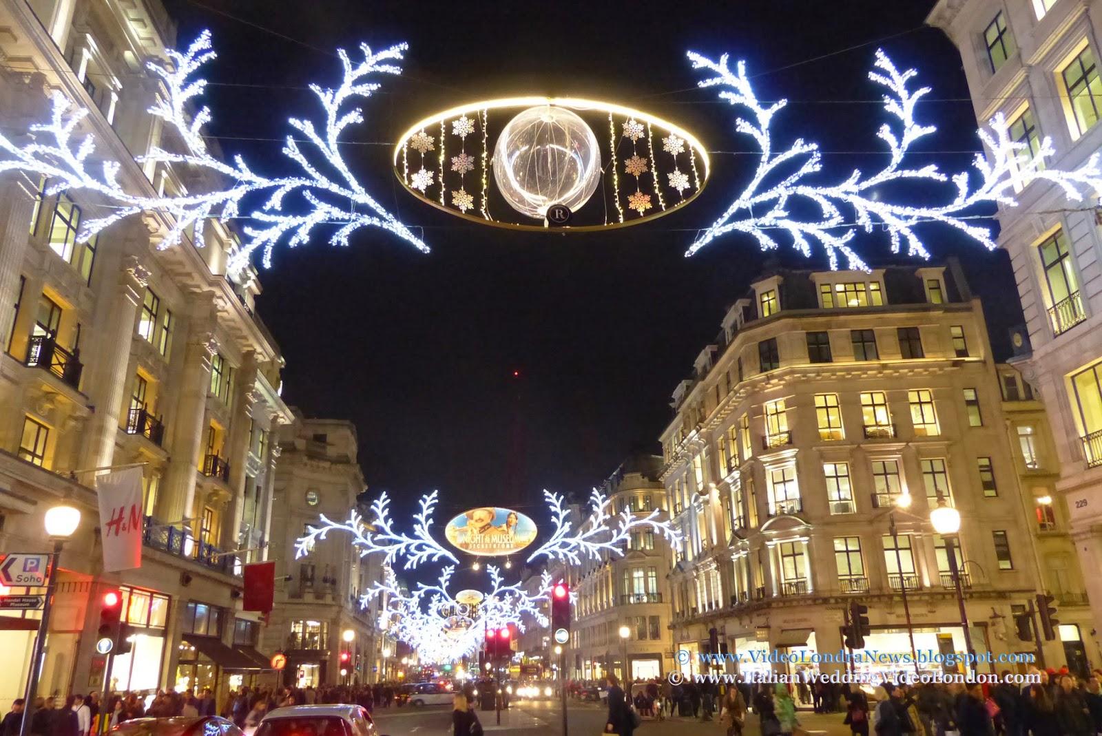 Illuminazione Natale Londra : video e le informazioni su Londra ...
