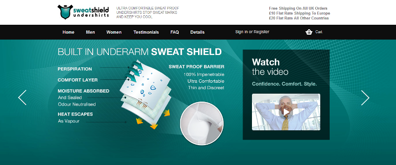 online shop for sweat-resistant undershirt