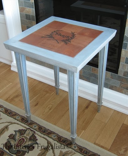 Neoclassical style side table after makeover