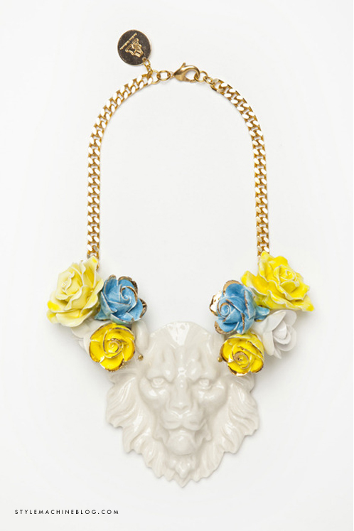 Porcelain Lion Necklace by Andres Gallardo | www.stylemachineblog.com