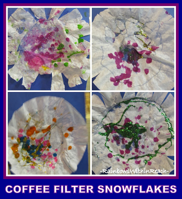 photo of: Coffee Filter Snowflakes via RainbowsWithinReach