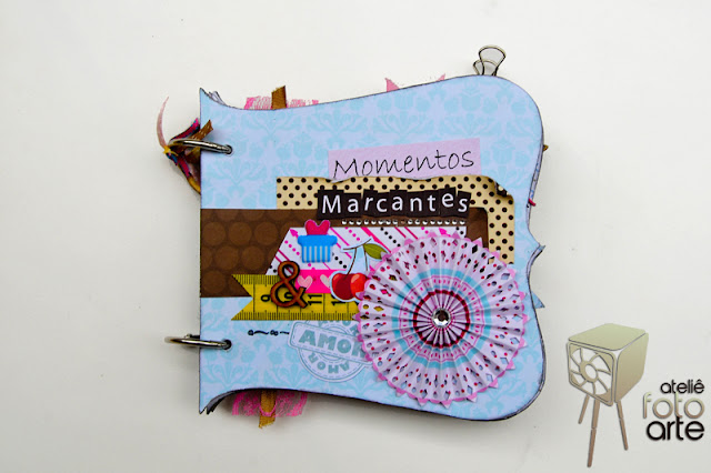 Mini álbum de scrapbook