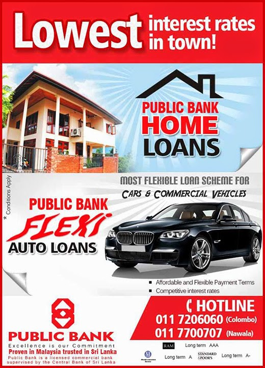 Lowest interest rates in town! - Public Bank.