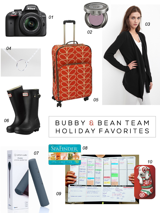 Bubby and Bean Team Holiday Favorites