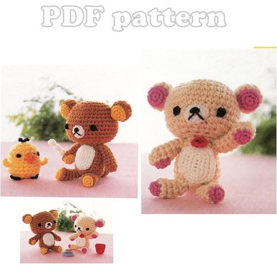 Amigurumi Rat : Amigurumi Rilakkuma and Friends Plush Crochet Pattern PDF ...