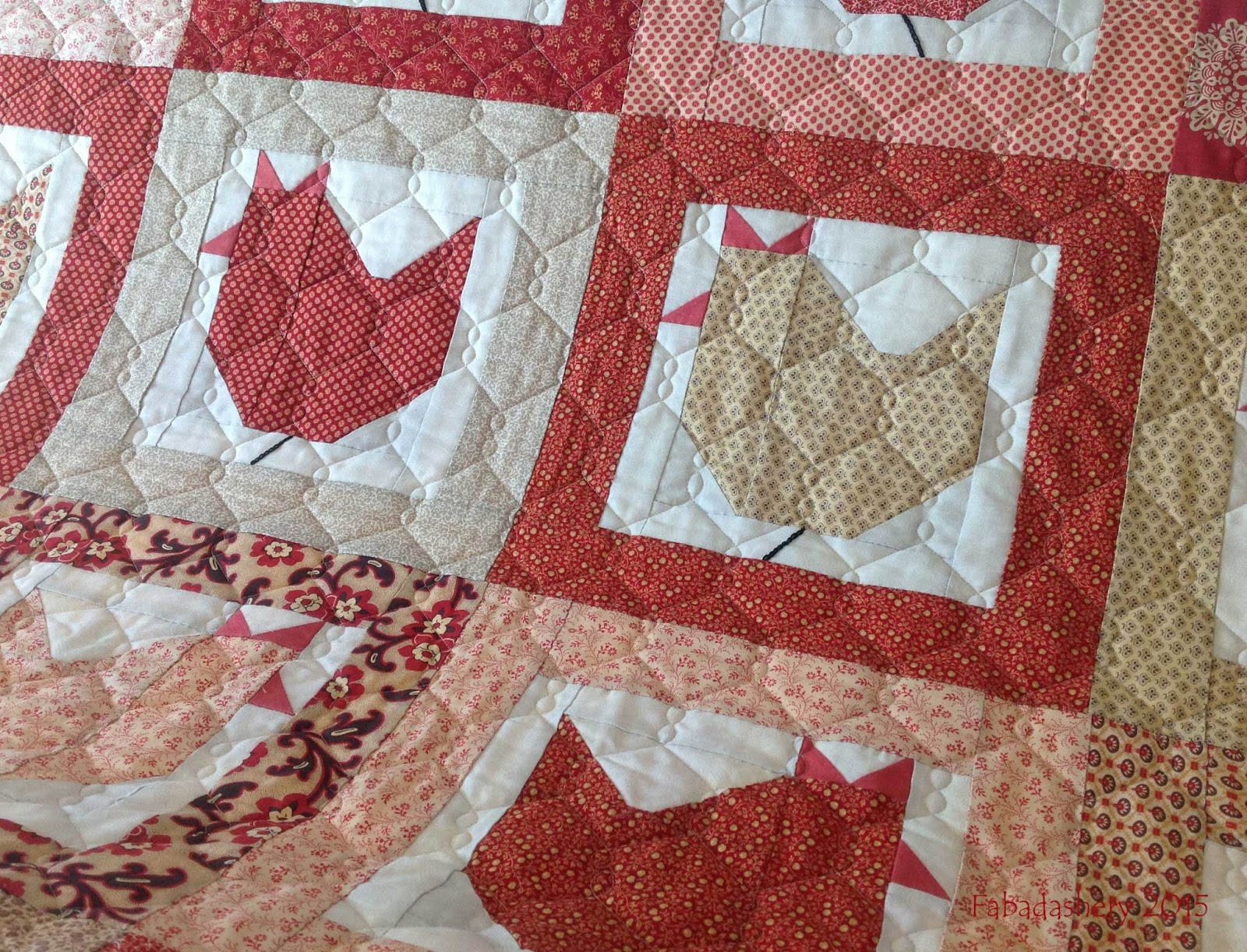 Fabadashery Longarm Quilting Hen Party Quilt
