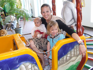 Em with Sierra and Kaia on the jungle train at Children's Museum of Richmond