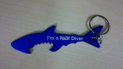 PADI Shark keychain and bottle opener