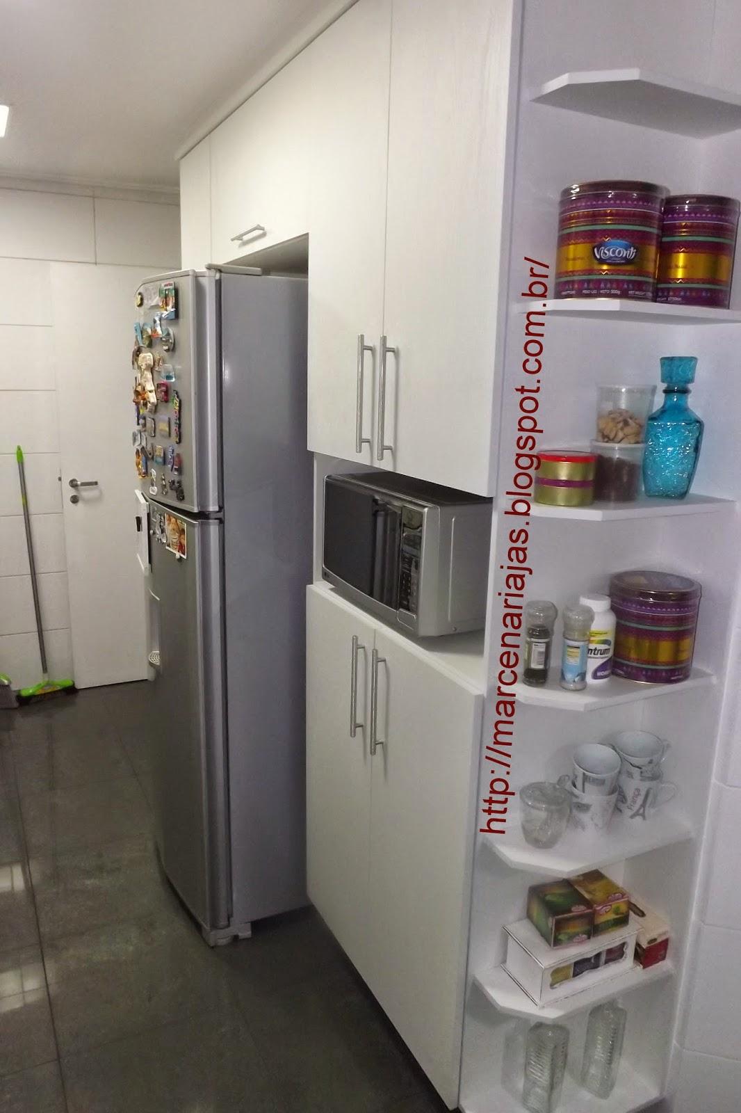 cozinha com cantoneira