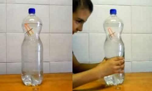 demostración del principio de pascal a través de un submarino en una botella