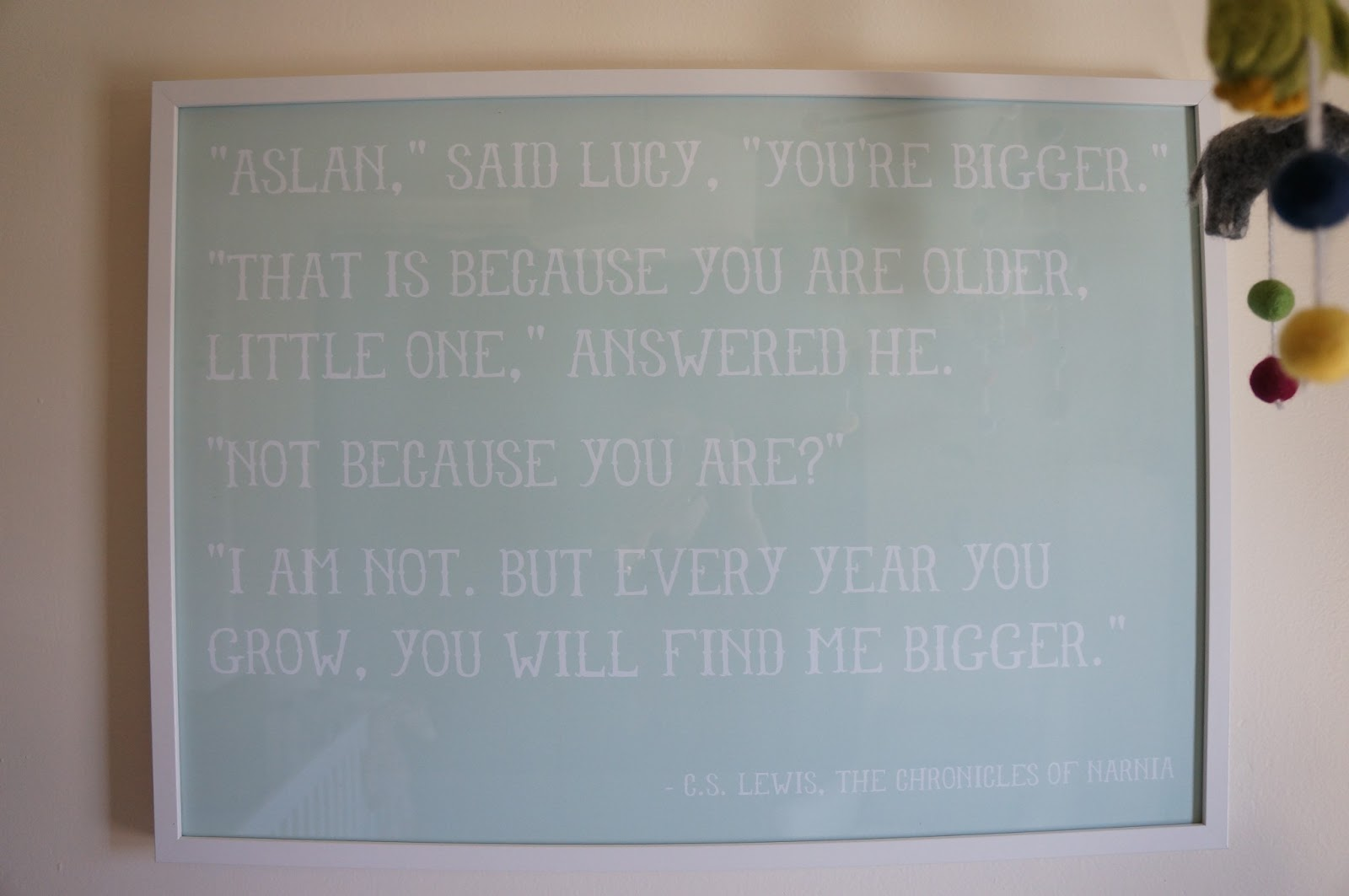 Chronicles of Narnia Aslan Quote