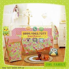 Sprei Anak Bayi Baby Owl Family Burung