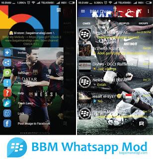 BBM Whatsapp Messi MOD Apk