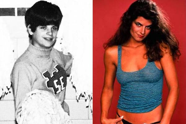 Kirstie Alley — Don't let her yo-yo dieting these days fool you: back in the day, Kirstie Alley was a stone cold fox…though, not when she was a cheerleader apparently. What's with that hairdo?