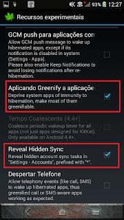 interface do greenify