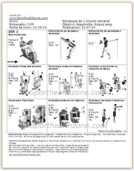 Tabla De Ejercicios Musculacion Pdf - SEONegativo.com