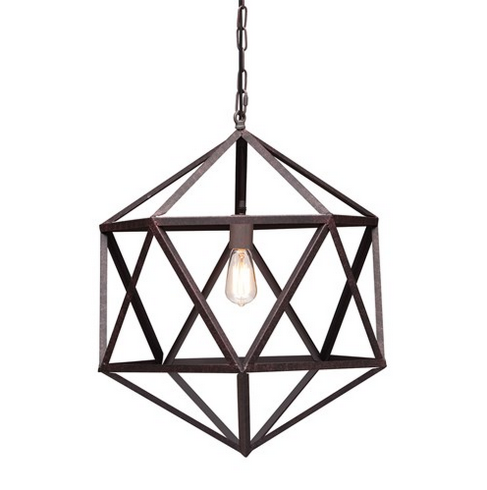 Zinc Door Amethyst Ceiling Lamp
