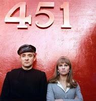 Oskar Werner y Julie Christie en Fahrenheit 451