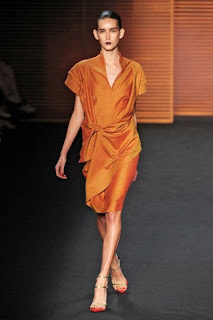 vestidos laranja